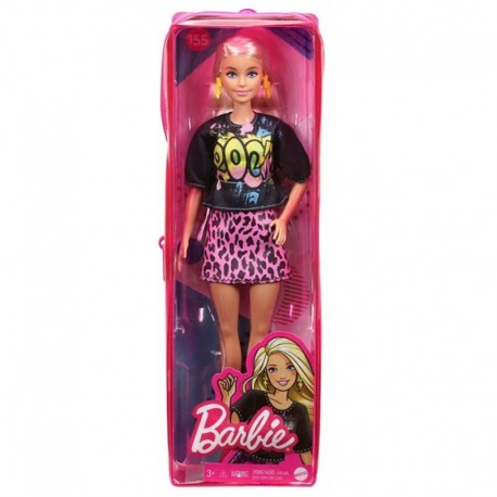 Barbie Fashionistas Doll 155 with Long Blonde Hair Wearing 'Rock' Graphic T-Shirt