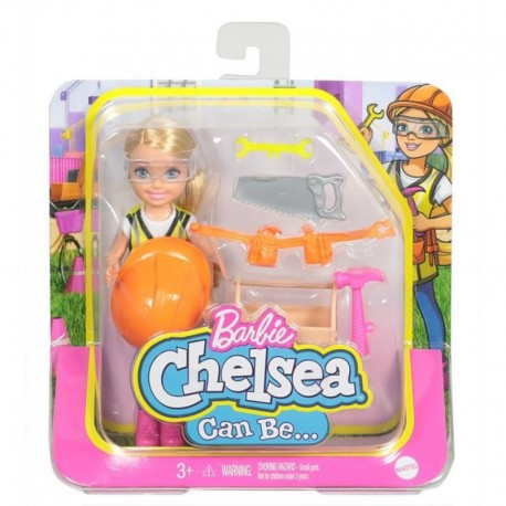 Barbie Chelsea Can Be Career Doll with Builder Outfit & Related Accessories