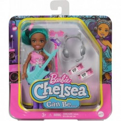 Barbie Chelsea Can Be Playset with Brunette Chelsea Rockstar Doll
