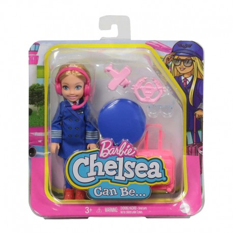 Barbie Chelsea Can Be Career Doll with Pilot Outfit & Related Accessories