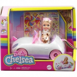 Barbie Club Chelsea Doll with Open-Top Unicorn Car & Sticker Sheet