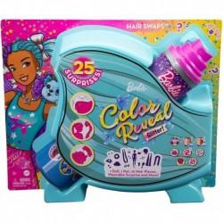 Barbie Color Reveal Doll Hair Swap Blue