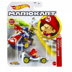 Hot Wheels Mario Kart Replica Die-Cast - Baby Mario B-Dasher
