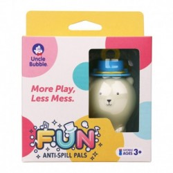 Uncle Bubble Fun Anti-Spill Bear Spill-Resistant White