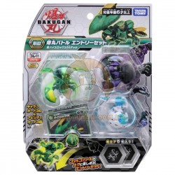 Bakugan Battle Planet 033 Starter Set Vol 3 (Crab Green DX, Gorilla Black, Leviathan White)