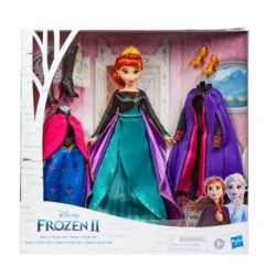 Disney Frozen Anna's Style Set Fashion Doll With 3 Dresses and 2 Pairs of Shoes