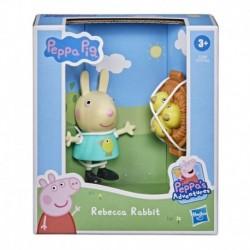 Peppa Pig Peppa's Adventures Peppa's Fun Friends Preschool Toy, Rebecca Rabbit Figure