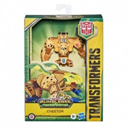 Transformers Bumblebee Cyberverse Adventures Toys Deluxe Class Cheetor Action Figure, Sound Blast Action Attack
