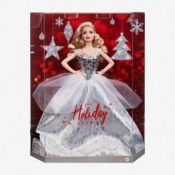 Barbie Signature 2021 Holiday Barbie Doll, Blonde Wavy Hair