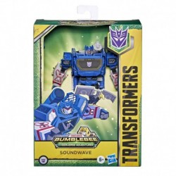 Transformers Bumblebee Cyberverse Adventures Toys Deluxe Class Soundwave Action Figure, Sound Blast Action Attack