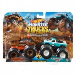 Hot Wheels Monster Trucks Demolition Doubles Loco Punk & Pure Muscle Die-Cast Car 2-Pack