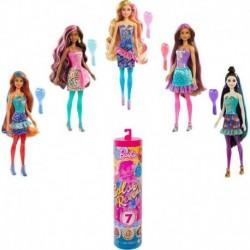 Barbie Color Reveal Doll, Party Series, Confetti Print, 7 Surprises