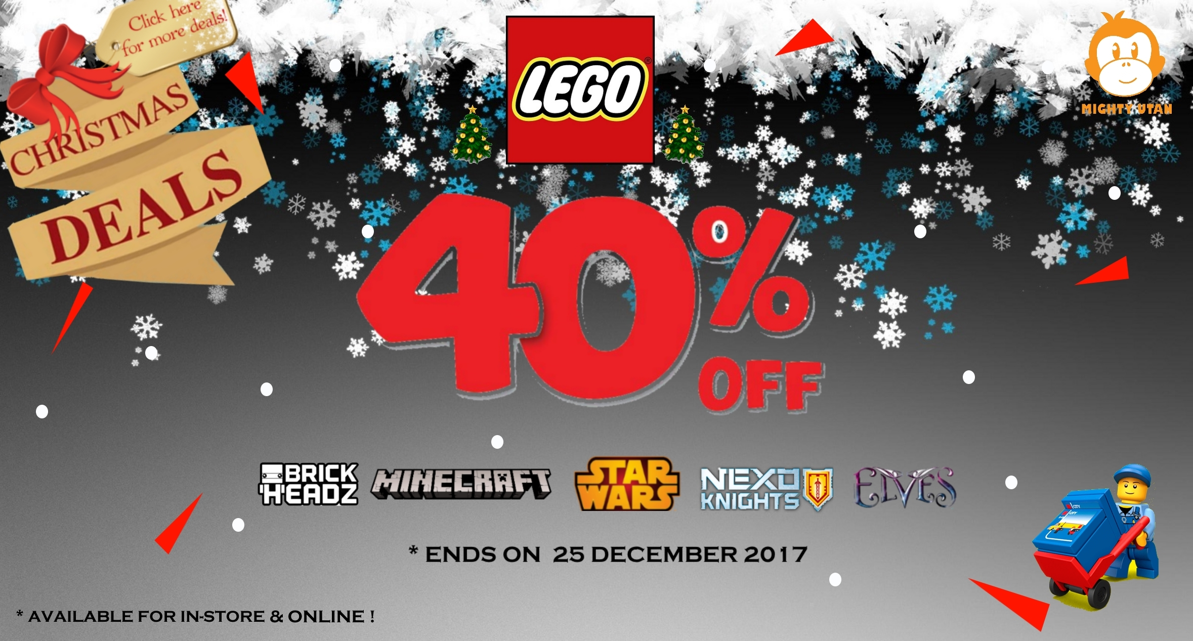 CHRISTMAS SALE 40% OFF DECEMBER 2017