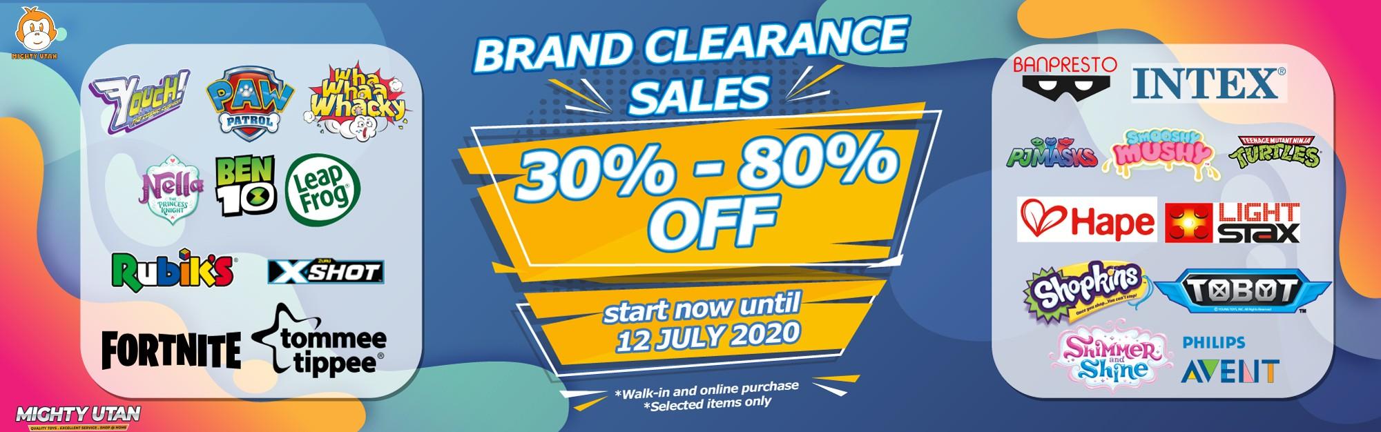 MU Brand Clearance Sales